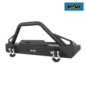 EAG BUMPERS FOR JEEP — Black Steel EAG Front Bumper TJ